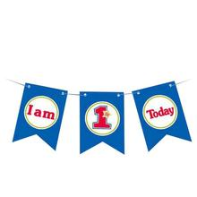 1st Birthday I Am One Paper Banner Baby Boy Girl I am 1 Today Party Decoration First Year Garland Bunting Supplies R6