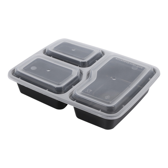 10 x Plastic Food Meal Prep Containers Disposable Picnic