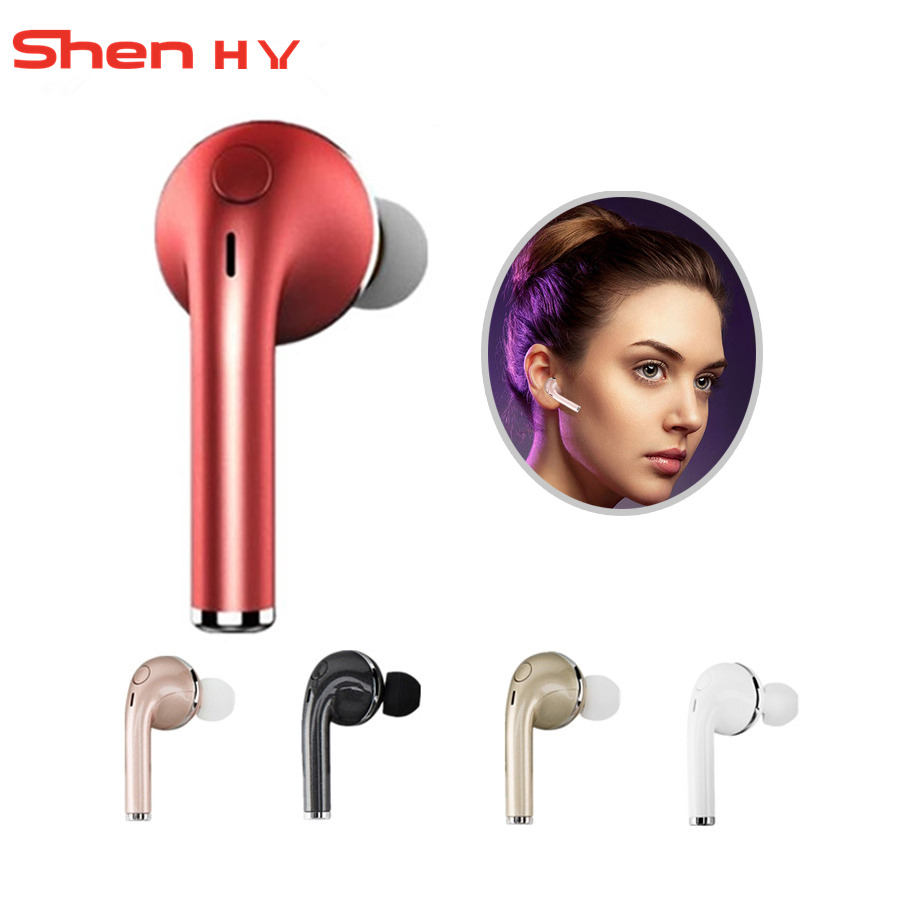 Top Bluetooth Headset Wireless Earphone Small Music Earbud Noise Cancelling Earpiece Handsfree With Mic For Iphone X Retail Box Bluetooth Earphones Headphones Aliexpress