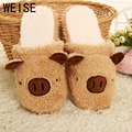 Pig Cute Cotton Fabric Home Slippers Winter  Indoor Slippers Unisex  Men And Women Slippers House Shoes Lovely Plush Warm Shoes