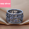 PJR084 FreeShipping 925 silver ring . hollowed-out ring with stone luxury jewerly. Fashion women Jewelry charmming birthday gift