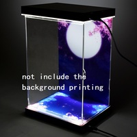 Acrylic Display Box include Sliding door top and bottom Light box