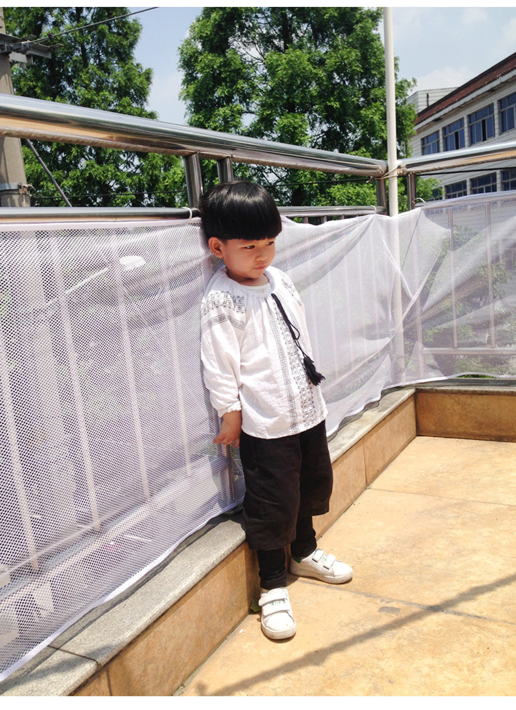 Kids Railing Stairs Balcony Safety Protecting Net Baby Safety Fence  Children Safety Products 200/300 Cm White Color In Hair Clips U0026 Pins From  Beauty ...