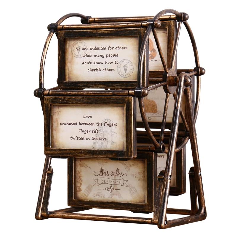 Grand Tournant Grande Roue Douze 3.9x5 Dans Cadre Photo Vintage BRICOLAGE Souvenir Cadre Photo Moulin À Vent Rétro Décor À La Maison