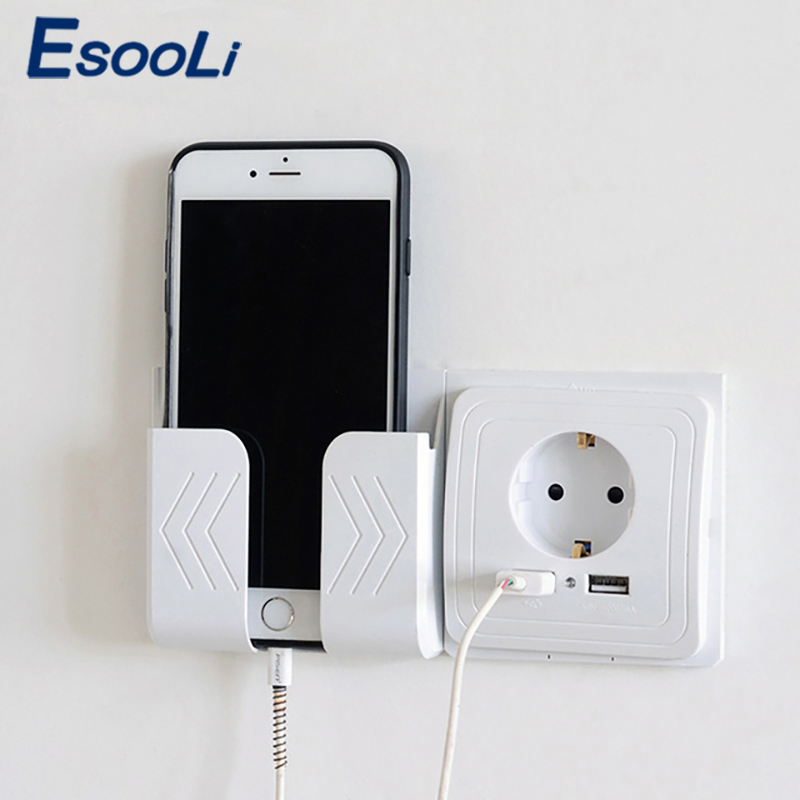 EsooLi Double USB Ports And Electric Wall USB Socket Charger Adapter EU Socket 2A Switch Power Dock Charging