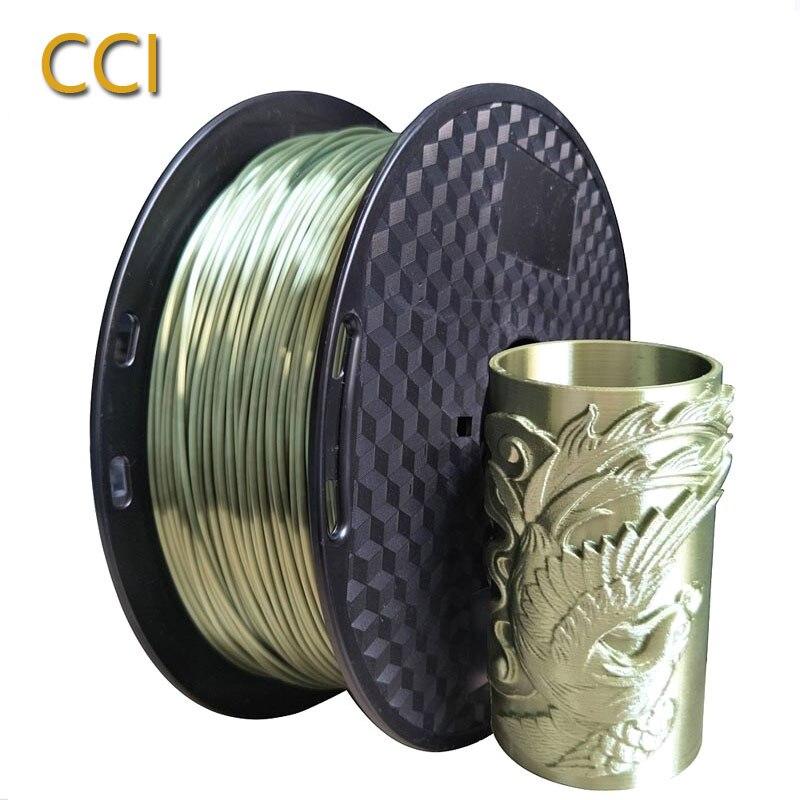 3d printer silk pla bronze filament 1 75mm silky bronze 1KG 3D printing material metal like