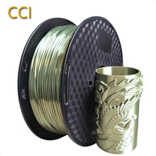 Silk pla bronze 3d printer filament 1 75mm 1kg silky bronze shine shiny 3D printing material