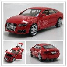 AUDI A7, modèle de voiture en alliage, Simulation 1:32, véhicules jouet avec tirette arrière, Collection cadeaux de noël pour enfants