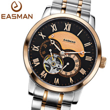 EASMAN Brand Men Watches Men Luxury Fashion Mature Style Rose Gold Mechanical Watch Wristwatches Double faced