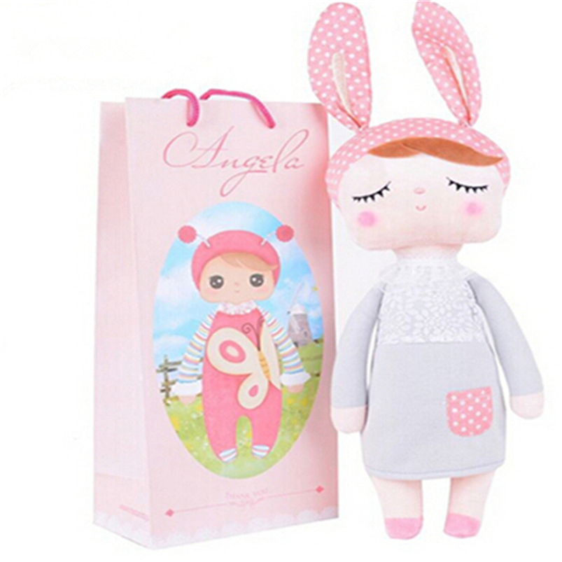 30 CM Cute Metoo Angela Dolls Bunny Baby Toy Stuffed Animal Kawaii Panda Bee Plush Toy For Kids Metoo Toy WL10