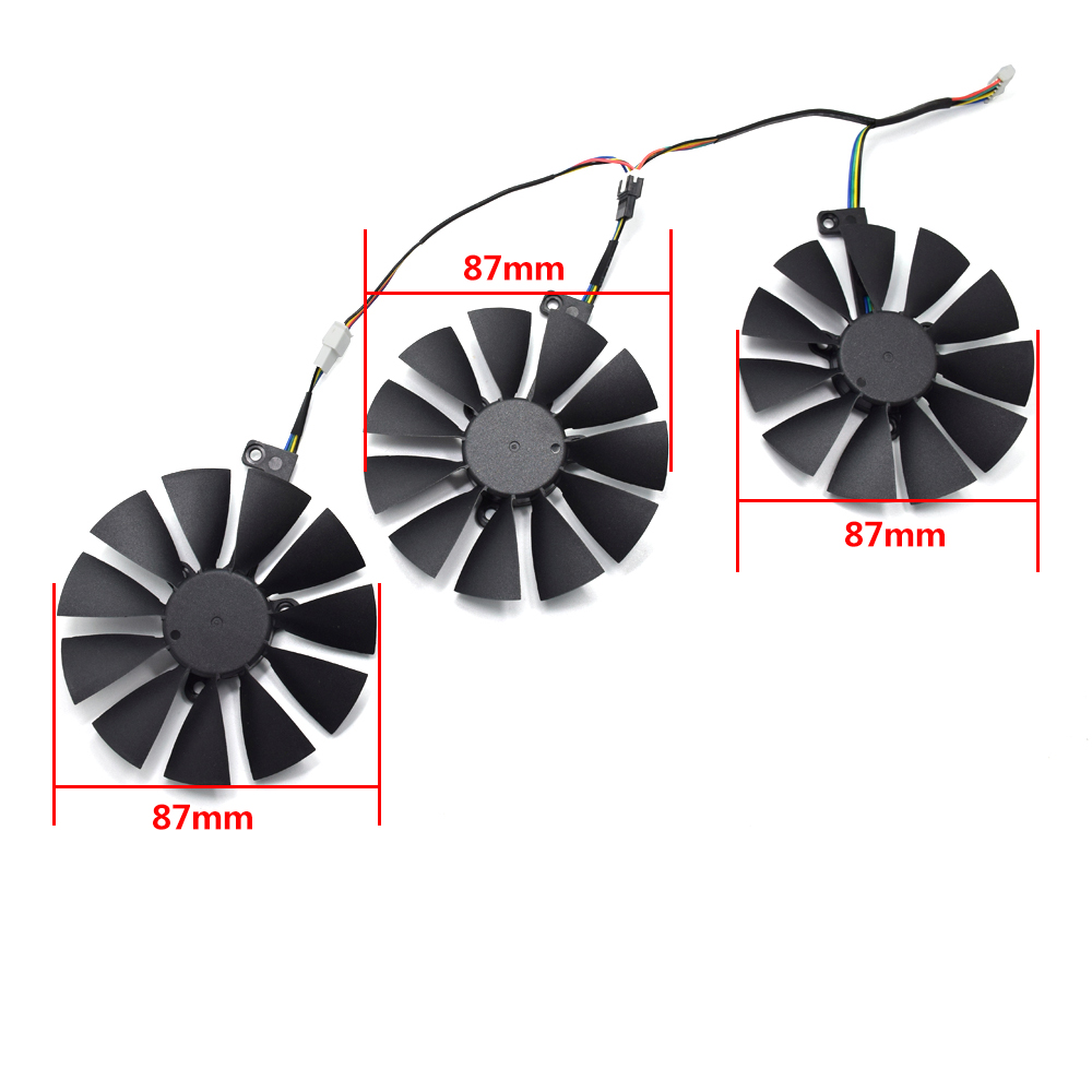 88mm T129215SL Cooling Fan For ASUS ROG-STRIX-RTX-2070-O8G-GAMING 5Pin Cooler