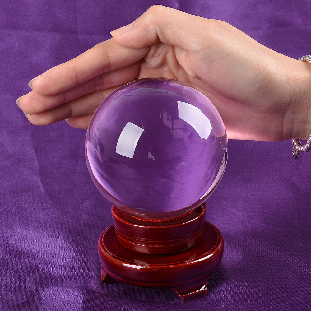 Ship From USA 80mm Rare Purple Asian Quartz Feng Shui Ball Crystal - Home Decor - Photo 2