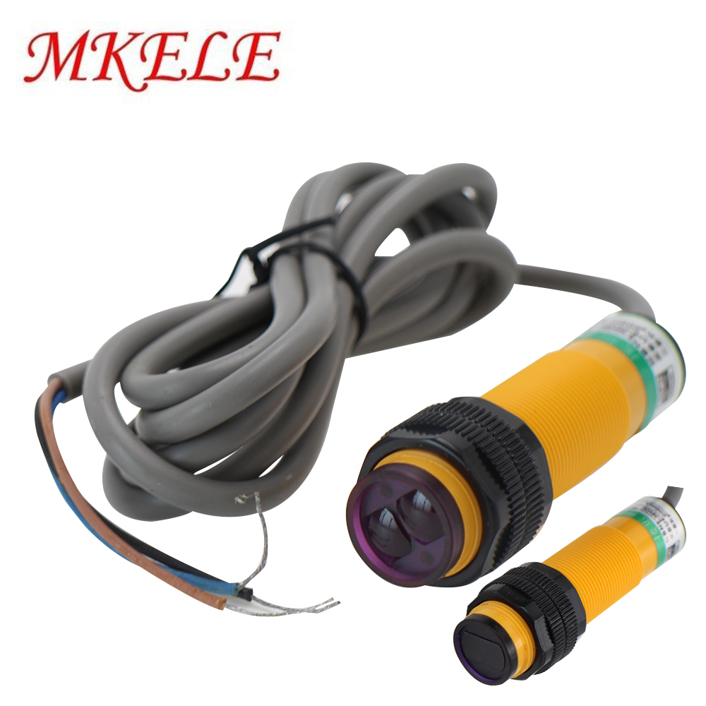 E3F-DS10C4/30C4 Proximity Switch 3 Wire NPN IR Photoelectric Sensor Diffuse DC 6-36V Adjustable