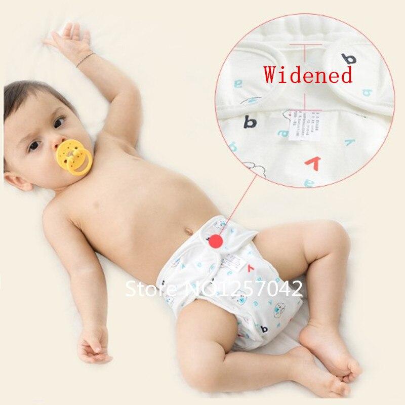 2 Unids Algodón Reutilizable Pañales Del Bebé Cubierta Para El - Pañales y entrenamiento para ir al baño - foto 2