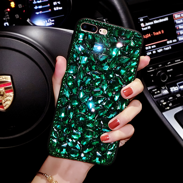 Fashion Bling Crystal Rhinestone Cover For Samsung Galaxy S6 S7edge S8 Plus Note5 Note8 Luxury Big gem Shell soft Phone Case