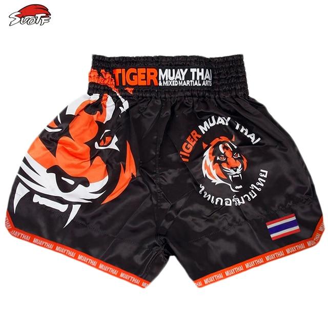 SUOTF MMA Tiger Muay Thai boxing boxing match Sanda training breathable shorts muay thai clothing kickboxing shorts boxing