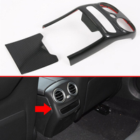 For Mercedes Benz C Class C180 C200 C260 C300 2019 2020 ABS Plated Armrest Box Rear Air Vent Frame Trim Cover