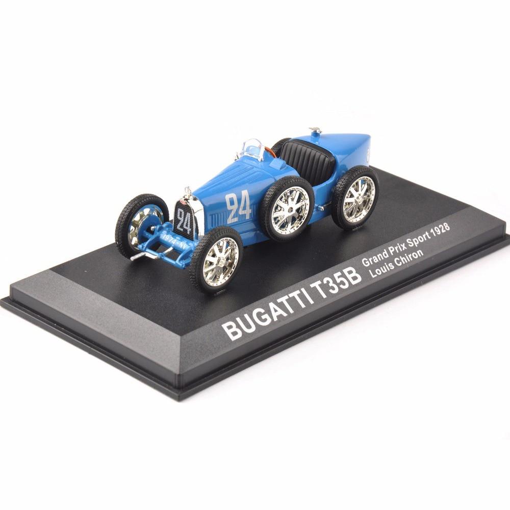 Cheap Kids Toys Diecast 1/43Blue Bugatti T35B Grand Prix Sport 1928 Louis Chiron Classic Car New Year Gift