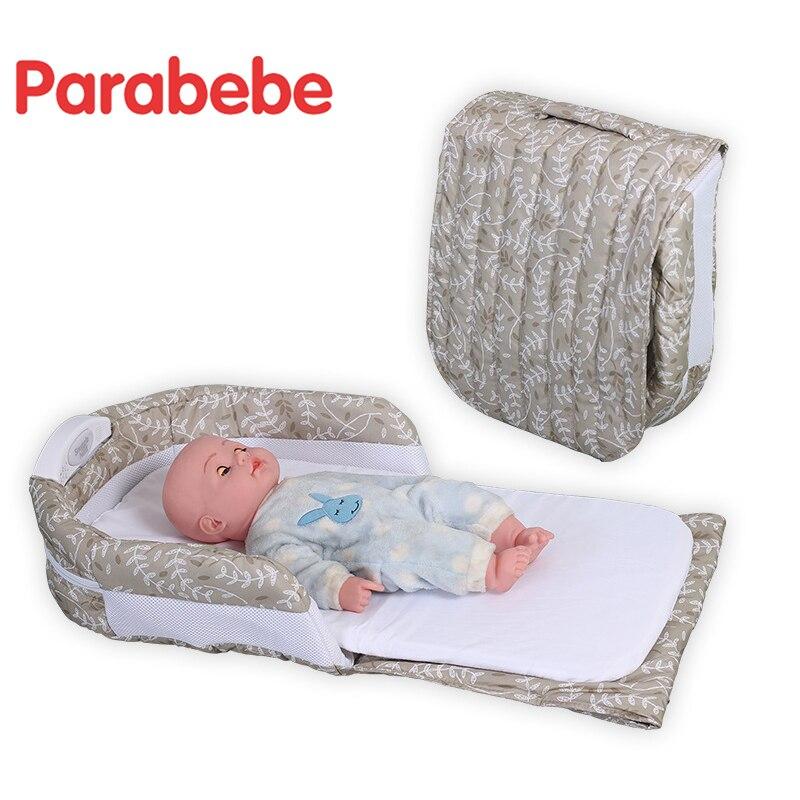 Lit de voyage pliable berceau pour nouveau-né berceau Portable enfants lit pour bébé enfants dormir voyage lit pliant bébé berceau - 3