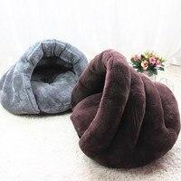 High Quality Pet Cat Bed Small Dog Puppy Kennel Sofa Polar Fleece Material Beds Mat Cat House Cat Sleeping Bag Winter Warm Nest