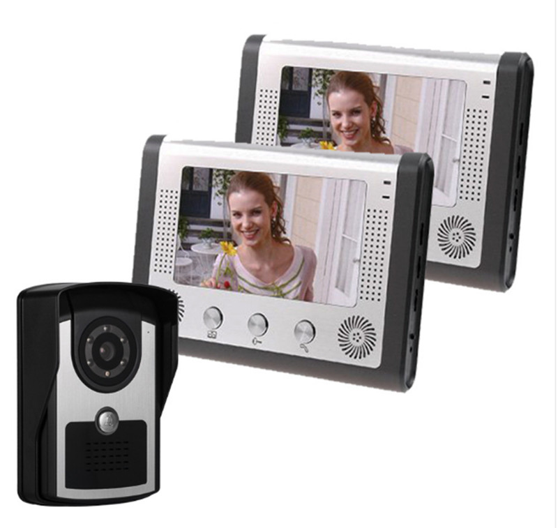 7 Inch Rain-Proof 1V2 Wired Intercom Video Door Phone