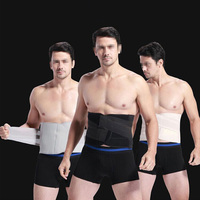 Men Corset Girdle Weight Loss Abdomen Belt Band Tummy Reduction S Black