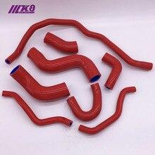 Силиконовый радиатор нагревателя охлаждающей жидкости шланг для VW GOLF GTI 2,0 T FSI TURBO MK5 03-09(8 шт.) красный/синий/черный
