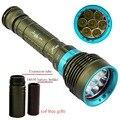 Подводный СВЕТОДИОДНЫЙ Фонарик 12000 LM XM-7 * T6 Diver Факел Света для 3x18650 или 26650 батарей Отдых туризм освещение