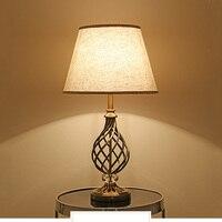 Chinese table light bedroom living room bedside light hotel office study desk lamp cloth E27 decoration light crystal lantern