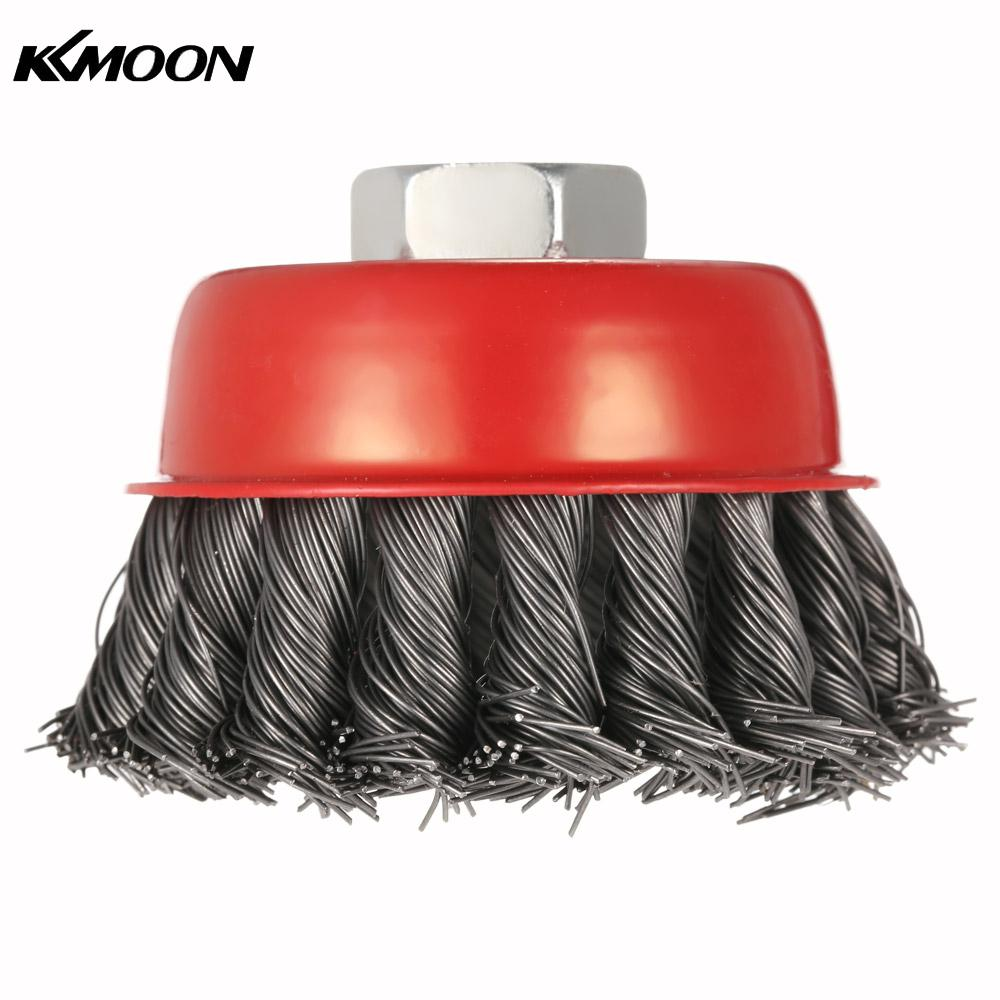 10x rotary mini tools steel wire wheel brushes cup rust cleaning - 75mm 3 Steel Wire Wheel Knotted Cup Brush Rotary Steel Wire Brush Crimp Cup Wheel