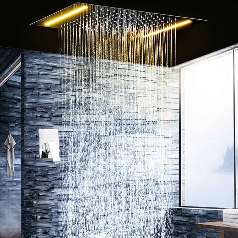 bathroom shower set electric led ceiling concealed. Black Bedroom Furniture Sets. Home Design Ideas