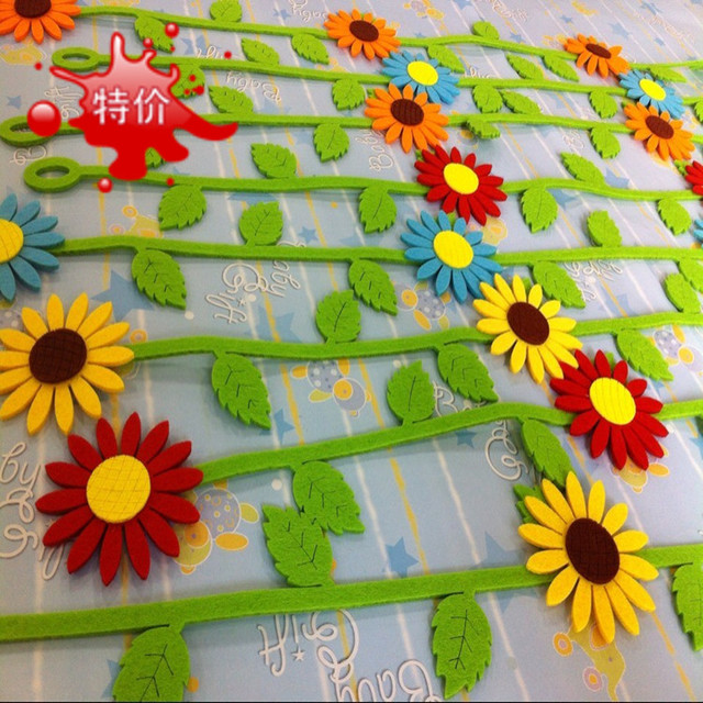 sunflower wall door sticker children room decoration baby birthday on