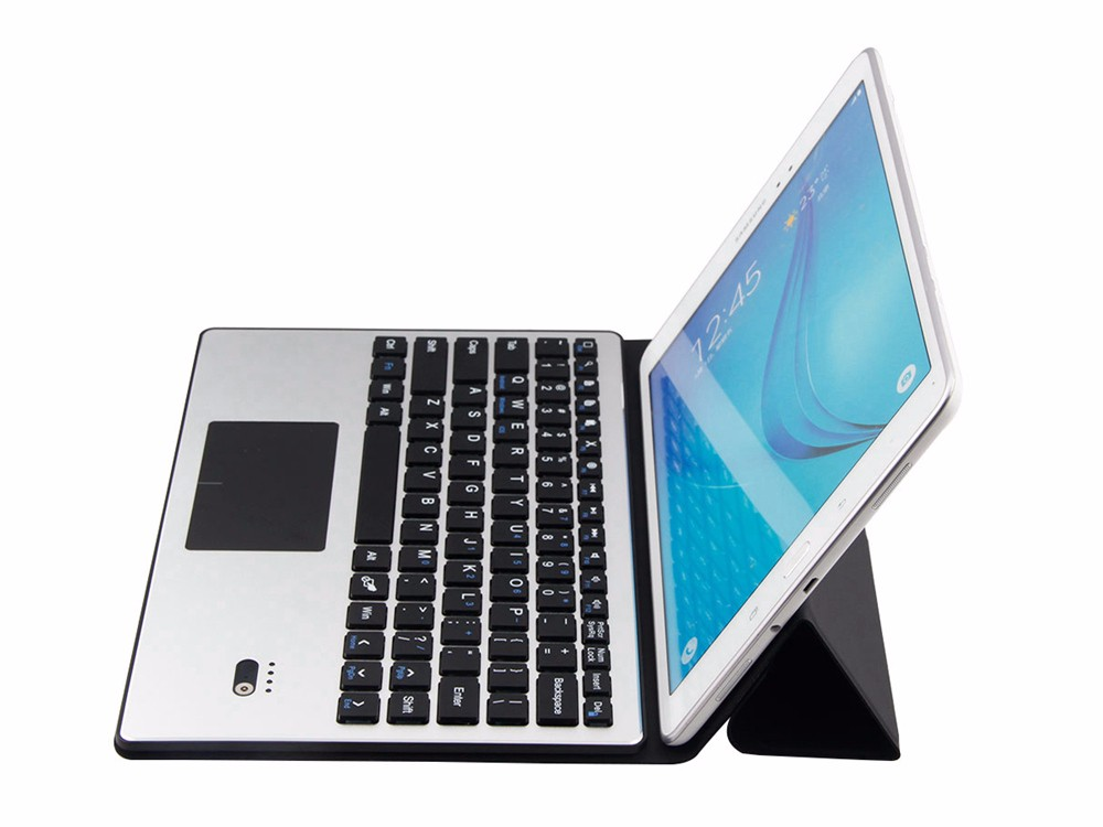 Universal 9 9.7 10 10.1 inch Android Windows Tablet PC Bluetooth Touchpad  Keyboard With Leather Case Stand Cover + Stylus universal 7 7 9 8 inch android windows ios tablet pc detachable bluetooth keyboard with touchpad pu leather case cover stand pen
