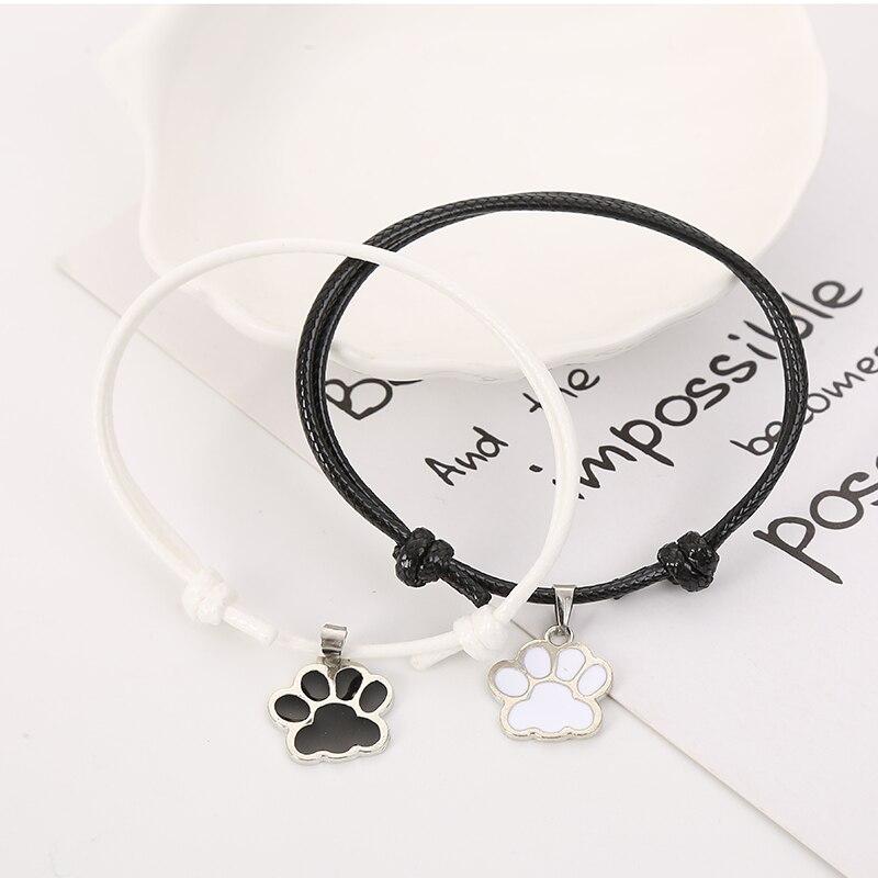 ALI shop ...  ... 33030128206 ... 5 ... BOBIGIULAI Brand 2pcs/set Cute Dog Footprint Couple Bracelet Fashion Simple Adjustable Bracelet Jewelry For Student Gift ...