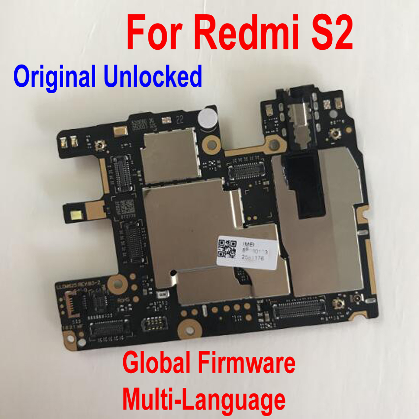 Original Multi-Language Unlock Mainboard For Xiaomi Hongmi S2 Redmi S2 Global Firmware Motherboard Circuit Fee Flex Cable