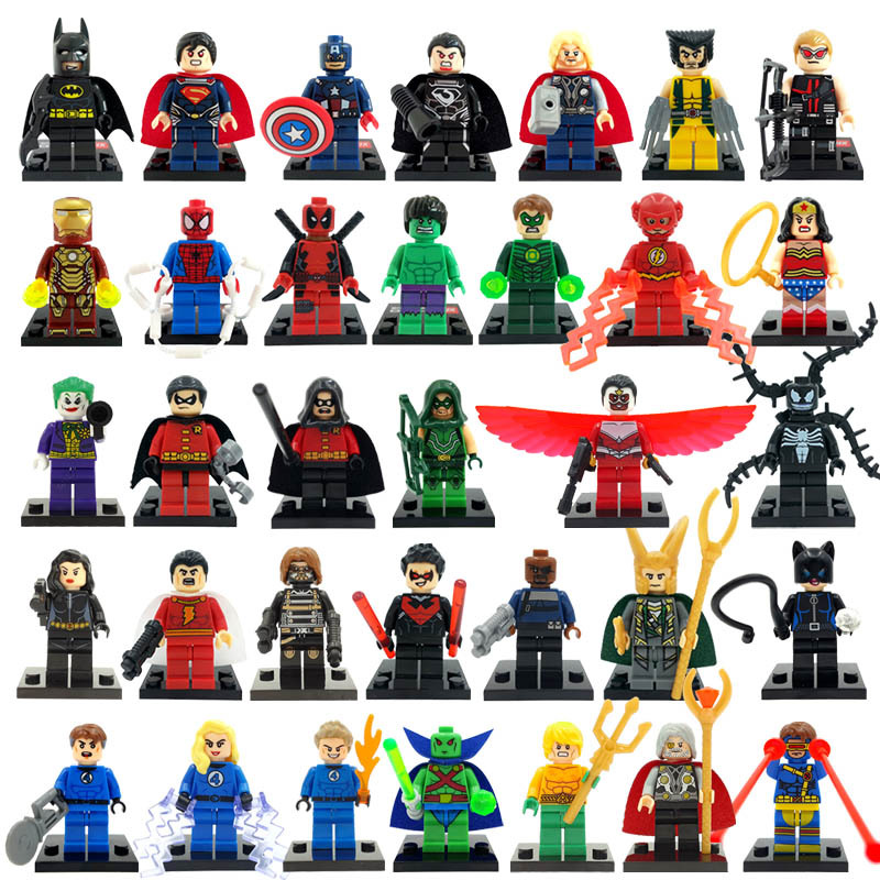 Marvel Super Heroes figures 34pcs/lot <font><b>Avengers</b></font> Superman Batman Star Wars Building Blocks <font><b>Set</b></font> <font><b>Model</b></font> Classic <font><b>character</b></font> bricks Toys