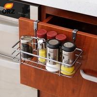 Multifunctional Iron Over Door Storage Rack Practical Kitchen Cabinet Drawer Organizer Door Hanger Storage Basket Kitchen
