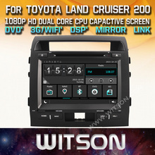 WITSON car dvd navigation gps for TOYOTA LAND CRUISER 200 New Technology+Capctive Screen+1080P+DSP+ SUPPORTS WiFi/3G/DVR