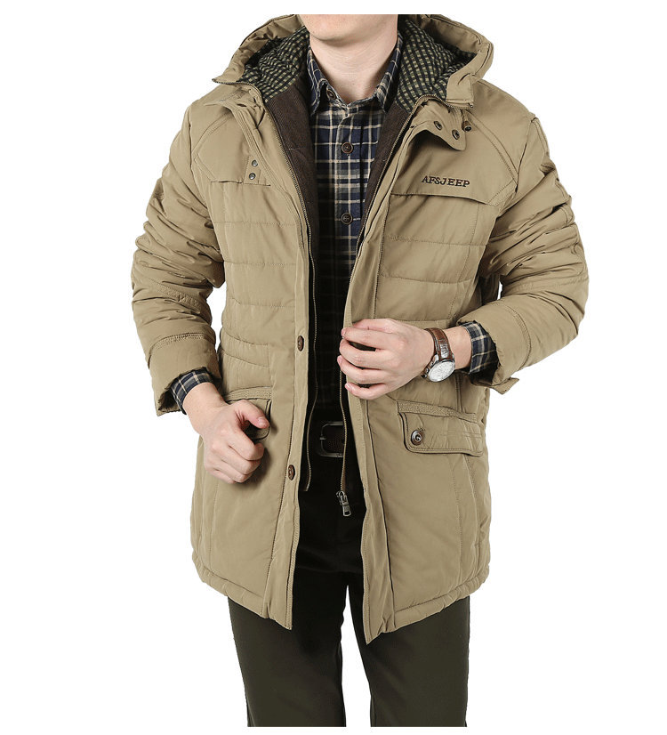 M 4XL Big and Tall Men winter coat parkas Army green Color blocked ...