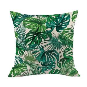 Image 4 - Зеленая наволочка с изображением леса, удобная ткань, тропический завод, наволочка из полиэстера, диван, набор, украшение для дома, 2019