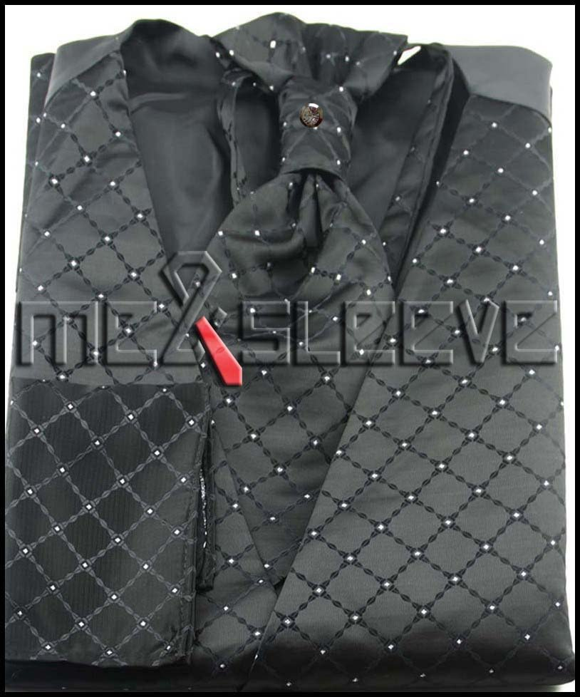 hot sale black wedding bridegroom waistcoat free shipping