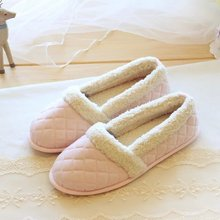 2016Winter Diamond Lattice Coral Fleece Home Warm Shoes  For Winter Non-slip High Quality Korean Style