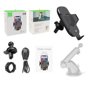 Image 5 - 10 W charge rapide Qi chargeur de voiture sans fil Auto serrage capteur infrarouge support pour téléphone chargeur induction pour iPhone X XS XR Max 8 Samsung S8 S9 S10 Plus Xiaomi mix 2s Mix3 Mi9 huawei Mate20 Pro