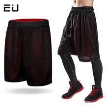Новинка, двухсторонние баскетбольные шорты, мужские, свободные, размера плюс, быстросохнущие, дышащие, спортивные шорты для мужчин, s, шорты для пробежки, тренировок, спортзала