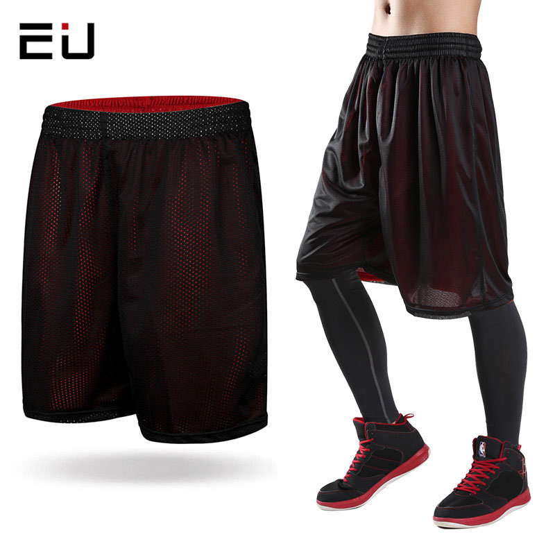 2017 Nieuwe Double Side Basketbal Shorts Heren Loose Plus Size Sneldrogende Ademend Sport Shorts Heren Running Training Gym Shorts