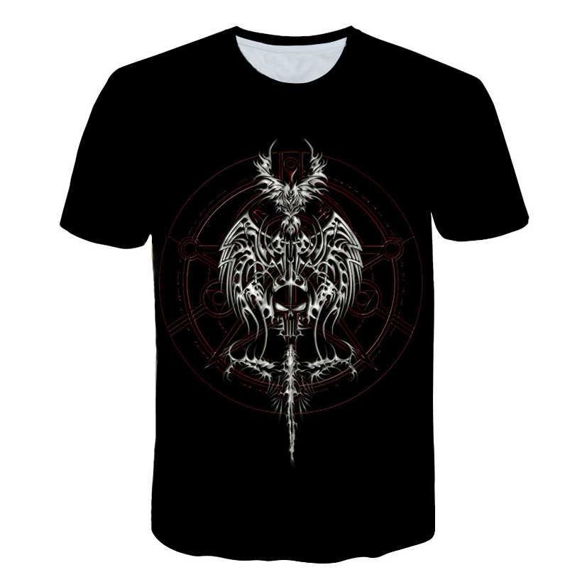 Фантастическая футболка с гипнозом и цифровым принтом волшебника 2018 футболка с короткими рукавами Мужская/Женская Удобная футболка