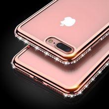 Floveme для iPhone 6 6 s 5 5S чехол для iPhone 7 8 плюс мягкий Чехол Ясно Bling Алмазный Обложка для iphone 8 7 6 6 S плюс 5 5S SE случае чехол на айфон 5s чехол на айфон 6 7 6s чехлы на айфон 5s чехлы на айфон 6