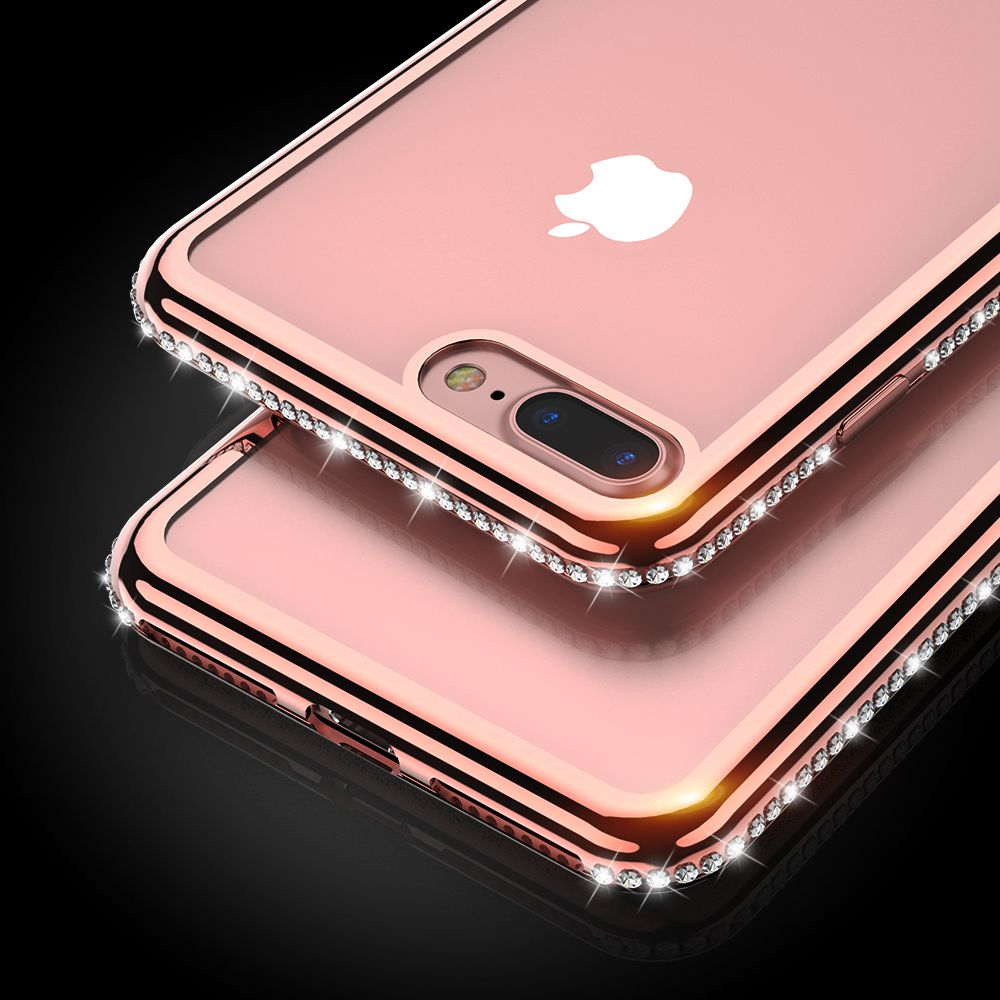 FLOVEME For iPhone 6 6S 5 5S Case For iPhone 7 8 Plus Soft Cases Clear Bling Diamond Cover For iPhone 8 7 6 6S Plus 5 5S SE Case