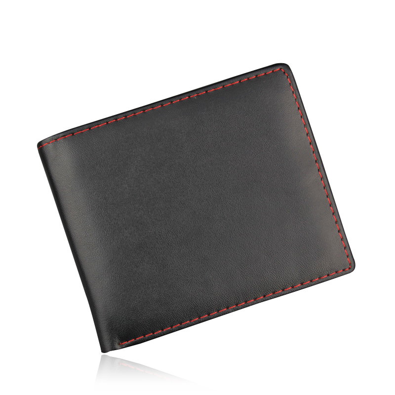 Fashion Men Wallets Famous Brand PU Leather Wallet No Zipper Design Wallets With Card Holder Purse Photo Holder For Men Carteira