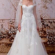 SexeMara Sweetheart cap sleeve princess bridal gown dresses